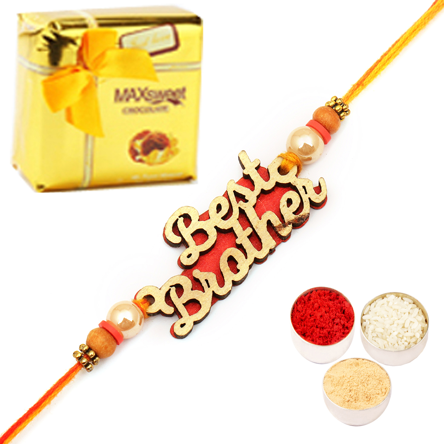 Best Brother Rakhi with Chocolate Box