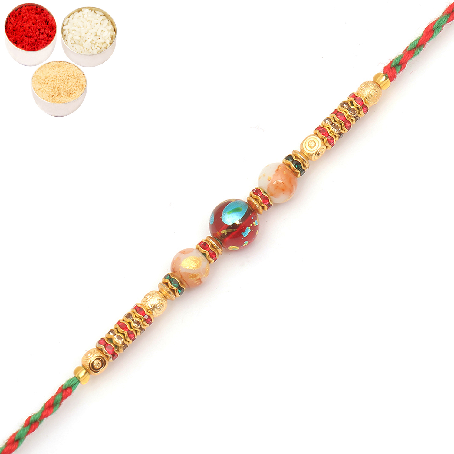 6871 Designer Fancy Thread Rakhi