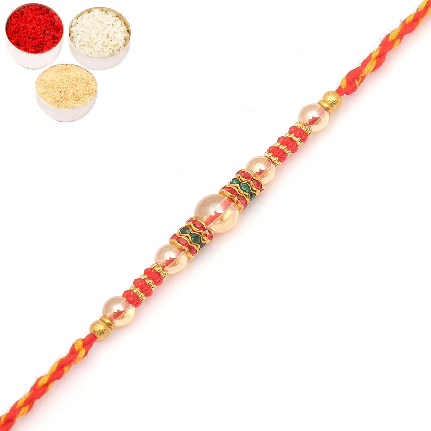 7039 Designer Fancy Thread Rakhi
