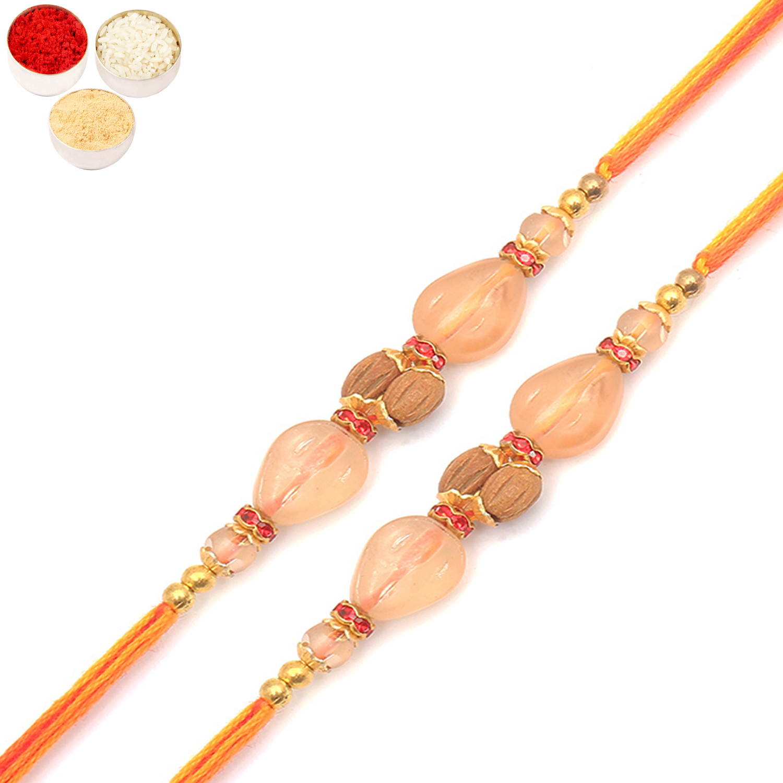Set of 2 AV5919 Designer Fancy Thread Rakhi