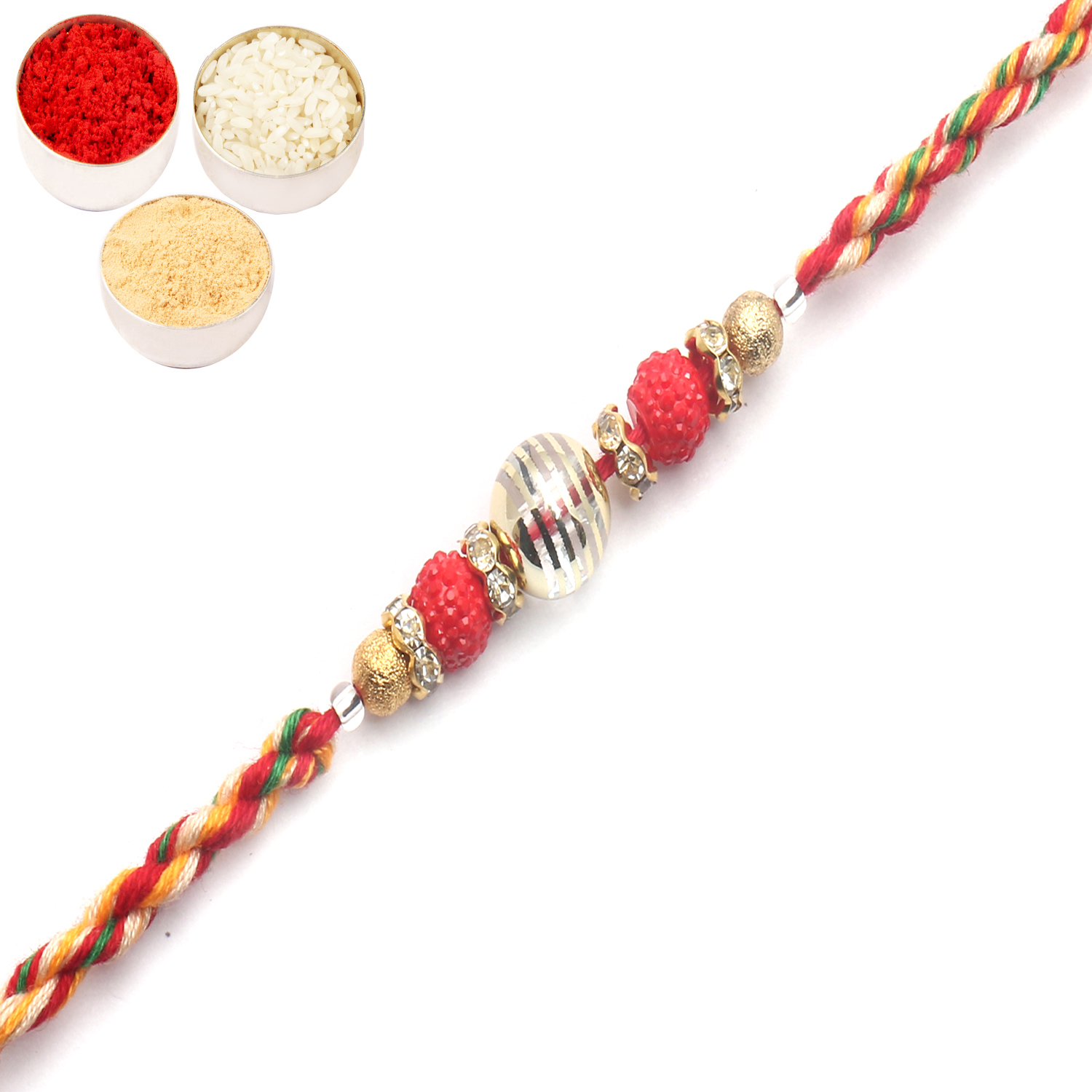 MM111 Designer Fancy Thread Rakhi
