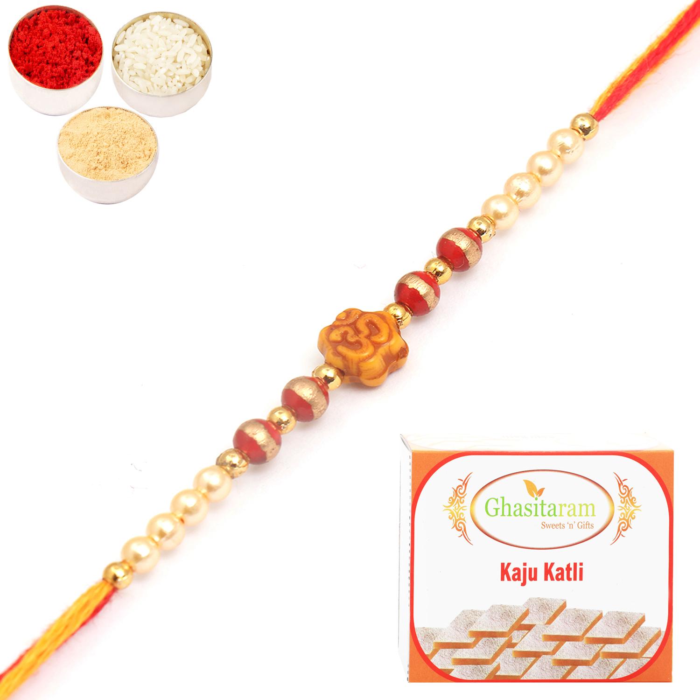 6043 Rakhi Thread with 200Gm Kaju Katli