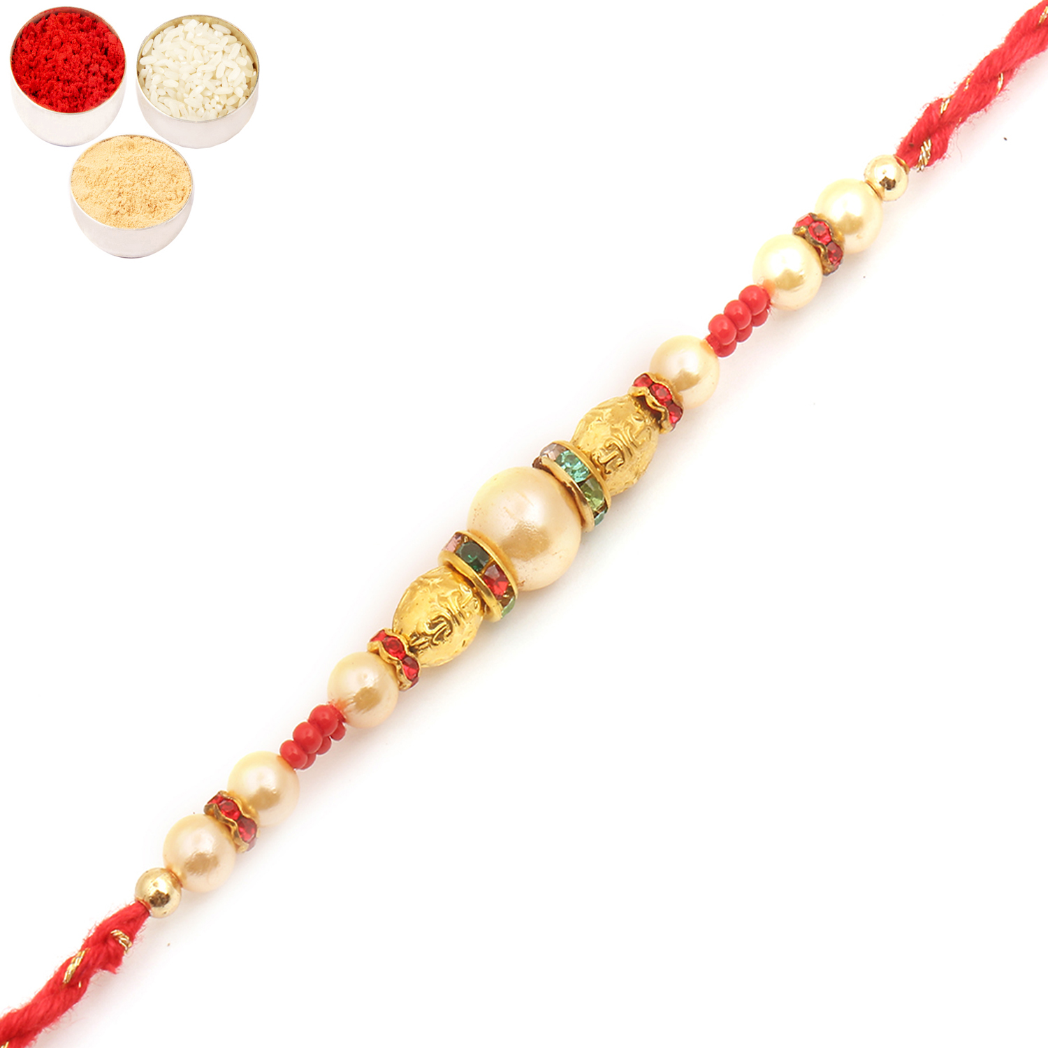 7015 Pearl Rakhi For Brother