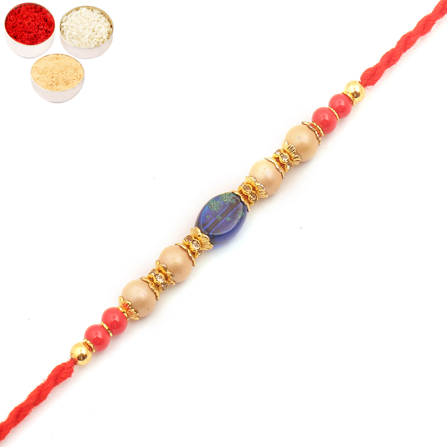 6860 Pearl Rakhi For Brother