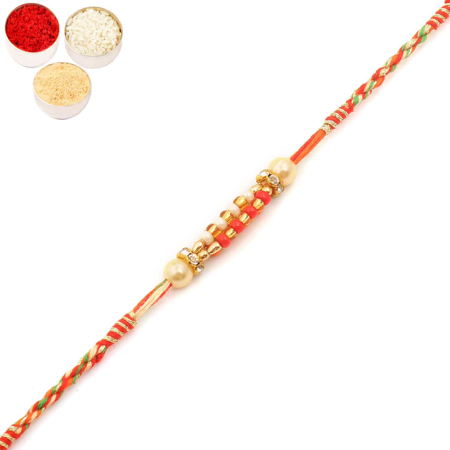 9710 Pearl Rakhi For Brother