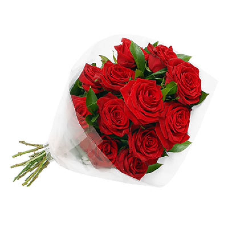 Romantic 12 Red Roses Bouquet