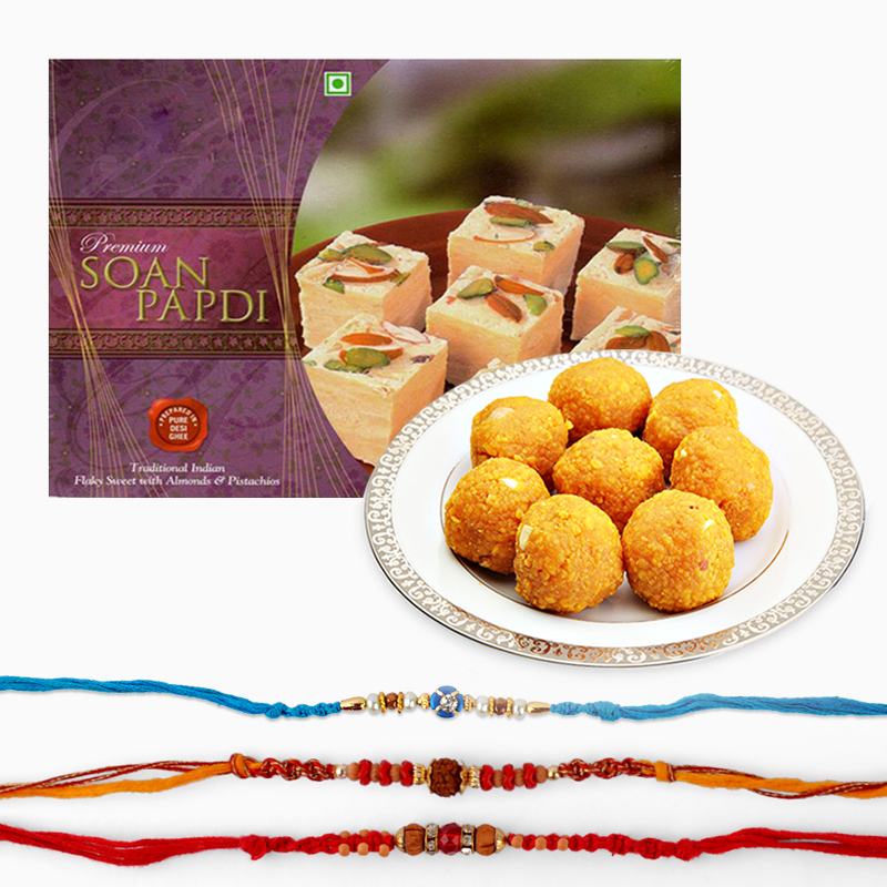 Sweets and Rakhi Combo for Brother