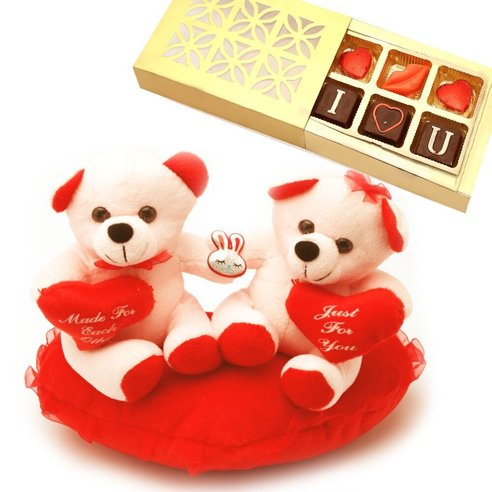 Perfect Couple with Valentine Chocolate Box