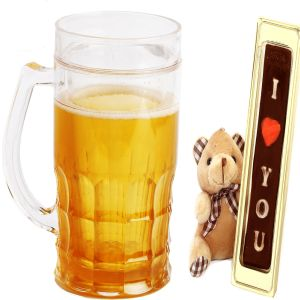 Beer Frost Mug with Teddy and Chocolate