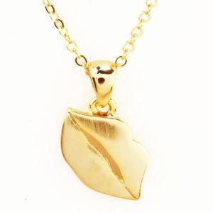 Lips Gold Pendant
