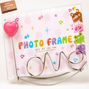 Love Photo Frame with Valentine Chocolate Bar