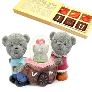 Love Cart with Light Chocolate Box