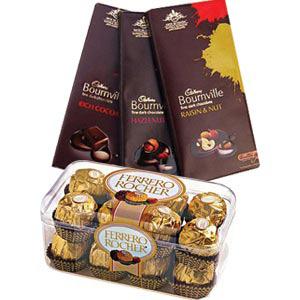 Cadbury Bournville N Ferrero Rocher