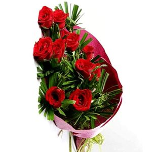 10 Red Roses Bunch Flower