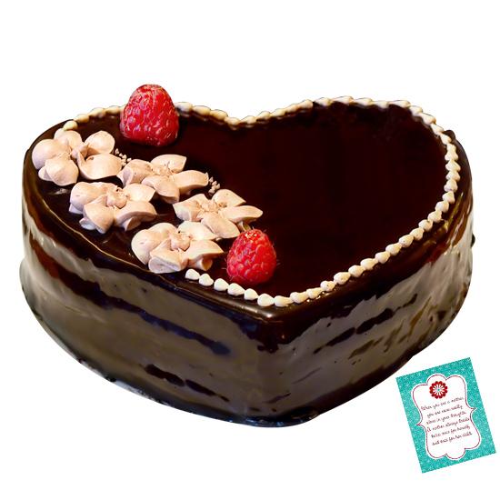 Heart Shape Cake N Greeting Card