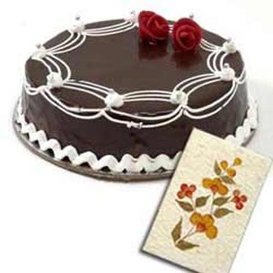 1Kg Chocolate Cake N Greeting Card