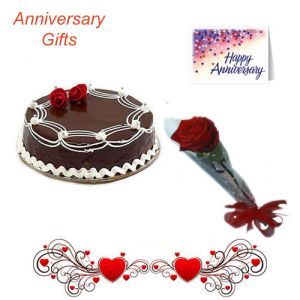 Single Rose N 1 2Kg Chocolate Cake