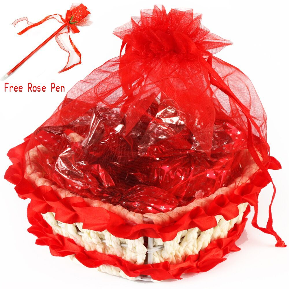Heart Basket With Chocolates
