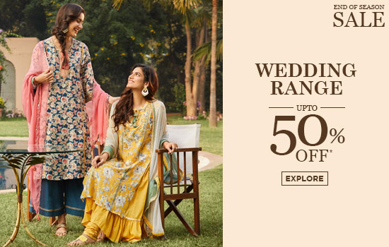 biba.in - Avail Upto 50% Off on Wedding Suits for Womens