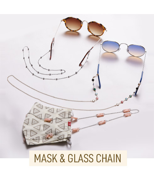 Mask & Glass Chain