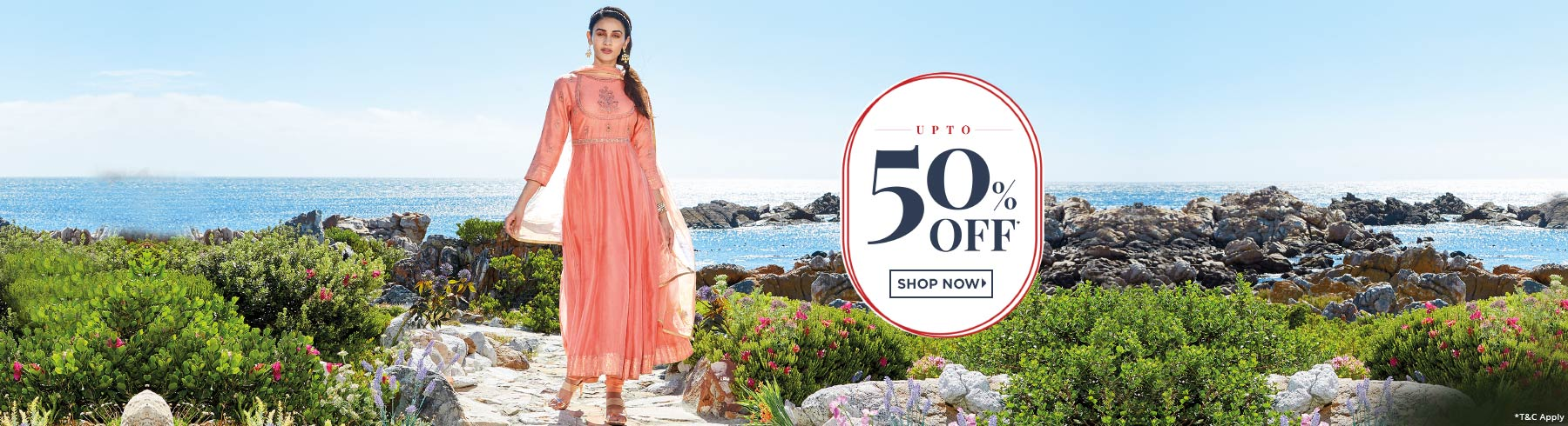 Biba Special Discounts Upto 50% Off on Women Dresses