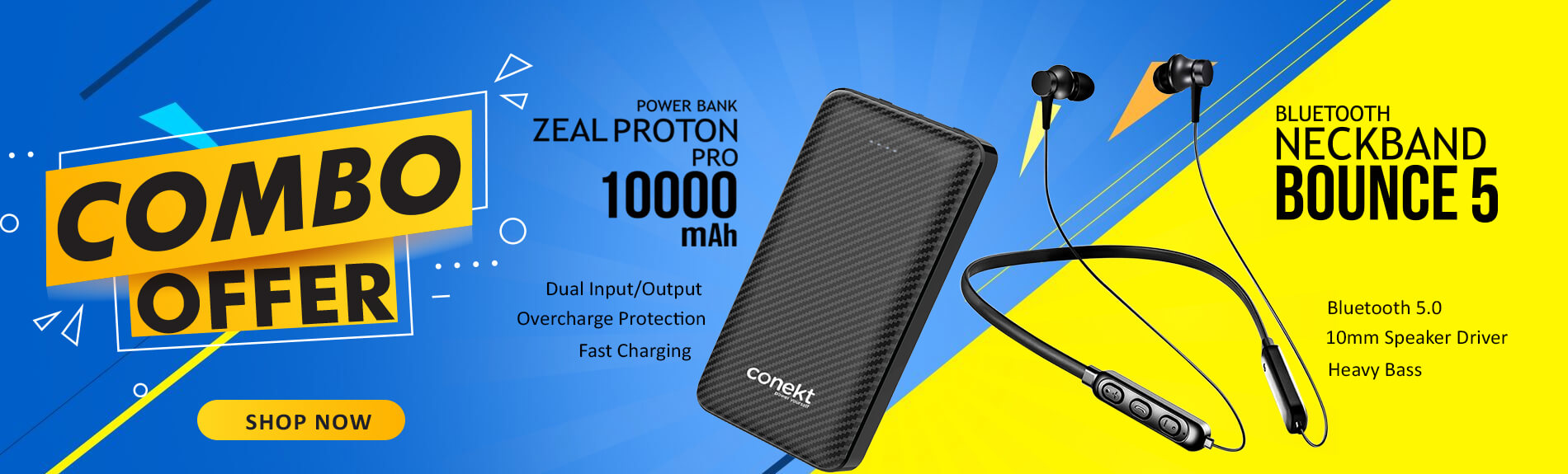 Bluetooth and Power bank combo offer