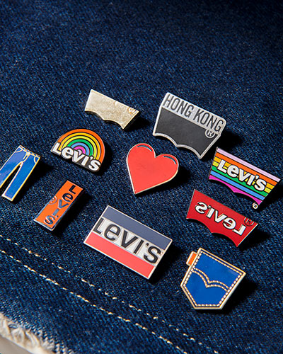 levis hong kong tailor shop - pins