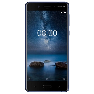 Smart Phones, Mobile Phones, Nokia, Nokia 8 - Tampered Blue , 151.5mm x 73.7mm x 7.9mm , 13 MP PDAF, 1.12um, f/2.0,  78.4˚, display flash , 2160p@30fps, 720p@960fps, HDR , Geo-tagging, touch focus, face detection, panorama , 13 MP (Colour + OIS) + 13 MP (Mono), 1.12um, f/2.0, 76.9˚, PDAF, IR range finder, dual tone flash , Bluetooth 5.0 wireless technology , 802.11ac Wi‑Fi with MIMO , LTE Cat. 9, 3CA, 450Mbps DL/50Mbps UL , Yes , Type C, USB3.1 Gen 1 (5Gbps) , Yes , 2K IPS QHD polarized display , Yes , 5.3