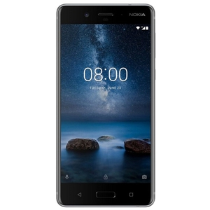 Smart Phones, Mobile Phones, Nokia, Nokia 8 - Steel , 151.5mm x 73.7mm x 7.9mm , 13 MP PDAF, 1.12um, f/2.0, 78.4˚, display flash  , 2160p@30fps, 720p@960fps, HDR  , Geo-tagging, touch focus, face detection, panorama  , 13 MP (Colour + OIS) + 13 MP (Mono), 1.12um, f/2.0, 76.9˚, PDAF, IR range finder, dual tone flash  , Bluetooth 5.0 wireless technology , 802.11ac Wi‑Fi with MIMO , LTE Cat. 9, 3CA, 450Mbps DL/50Mbps UL , Yes , Type C, USB3.1 Gen 1 (5Gbps)  , Yes , 2K IPS QHD polarized display  , Yes , 5.3
