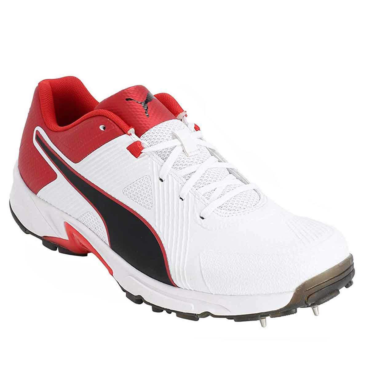 Puma Spike 19.1 Cricket Shoes (White