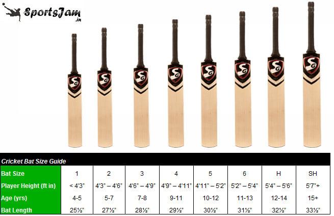 Cricket Bat Size Guide