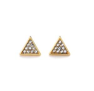 Earrings, Jewellery, Accessories, Nine Box, Nine Box, Endless Triangle Stud Earrings