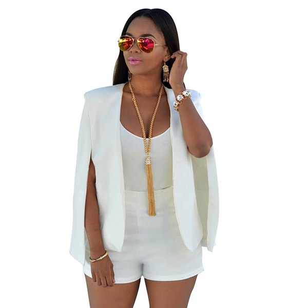 Tops, Pre-Order, Nine Box, White Cape Blazer