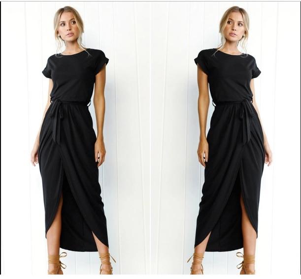 Dresses, Pre-Order, Nine Box, Navy Blue Hem Maxi Dress