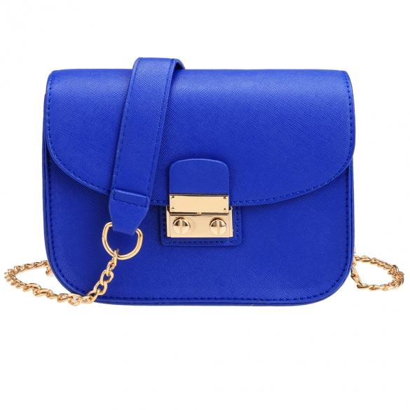 Bags Nine Box Royal Blue Purse With Chain Strap