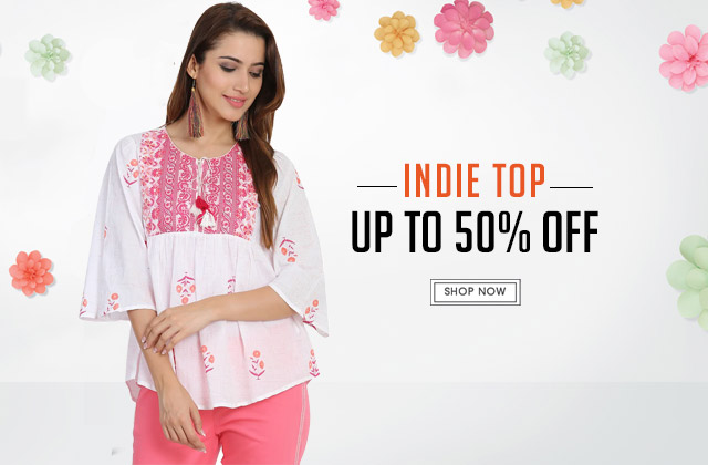 Indie Tops Upto 50% Off
