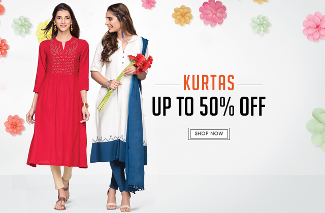 Kurtas Upto 50% Off