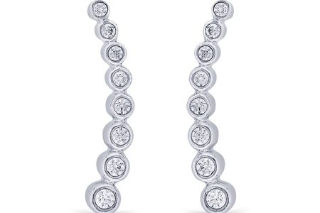 White Gold Diamond Earcuffs