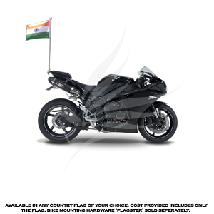 Bike Flags, Car and Bike Flags, EndureTex, Indian National Flag Motorcycle (Bike) Flag