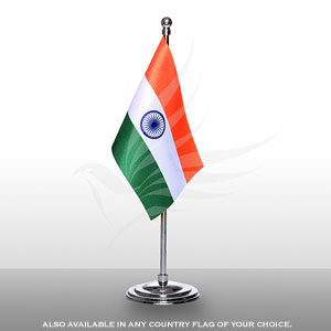 Single Flags, Miniature Flags, Penguin Super Silk, Miniature Table Flag With A Chrome-Plated Plastic Round Base