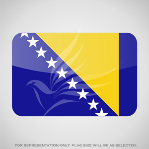 Outdoor Flags, Penguin Super Silk, Bosnia & Herzegovina National Flag - Various Sizes