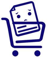 Empty shopping icon