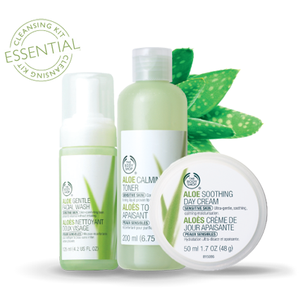 Aloe routine - for gentle care