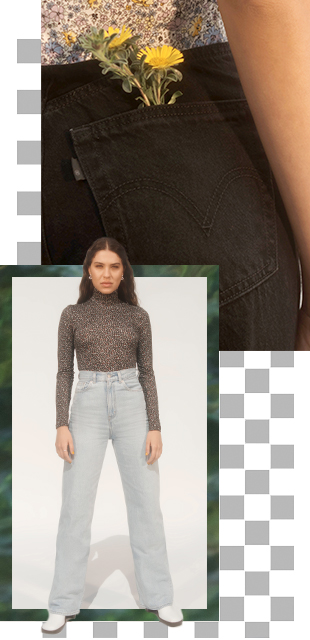 levis indonesia women's lookbook fall holiday 2020